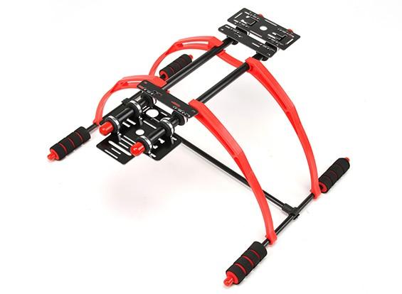 Lightweight FPV Multifunction 200mm High Landing Gear Set for Multi-Rotors (Red/Black)