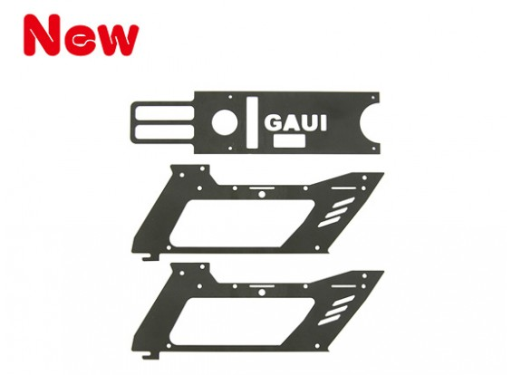 Gaui H200V2 Fiberglass Black Lower Frame Set (203448)