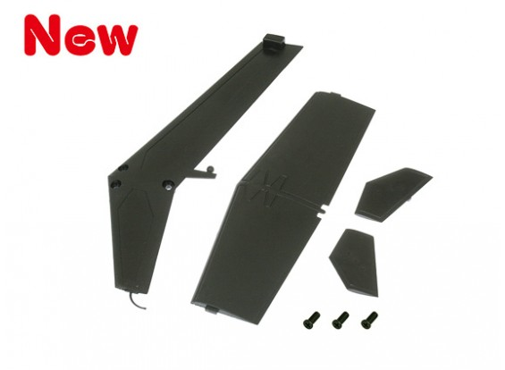 Gaui 100 & 200 MD500 Fin & Tail Set(Blacke)