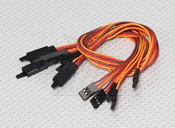 30CM Servo Lead Extention (JR) with hook 26AWG (5pcs/bag)