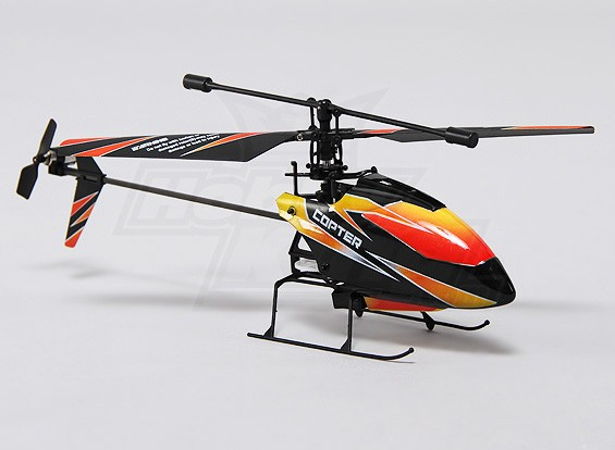 Hobbyking FP100 2.4Ghz 4CH Micro Helicopter Mode 1 (RTF)