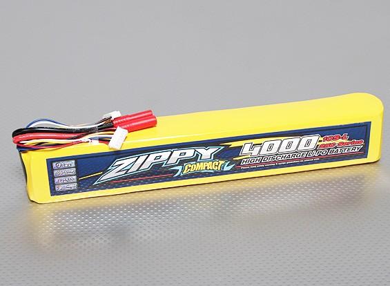 ZIPPY Compact 4000mAh 10S 25C Long Lipo Pack
