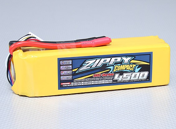 ZIPPY Compact 4500mAh 6S 35C Lipo Pack