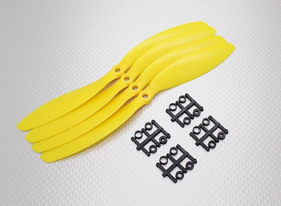 Hobbyking&#8482 Propeller 9x4.7 Yellow (CCW) (4pcs)