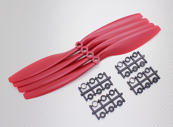 Hobbyking&#8482 Propeller 10x4.5 Red (CCW) (4pcs)