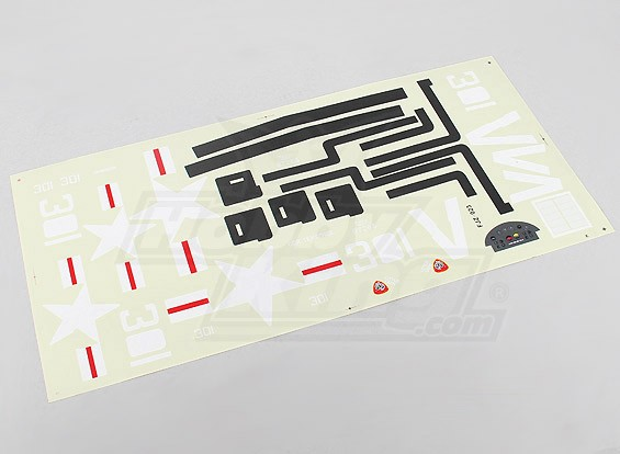 Durafly™ 1100mm  F4U Cosair - Sticker Sheet