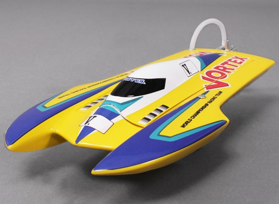 Vortex Hydro Racing Boat (475mm) Plug and Drive - Yellow