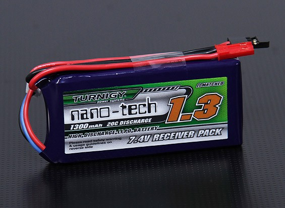 Turnigy nano-tech 1300mAh 2S1P 20~40C Lipo Receiver Pack
