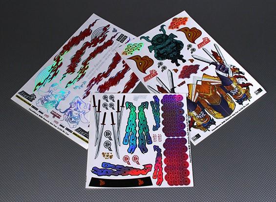 Self Adhesive Decal Sheet - Bibi 1/10 Scale