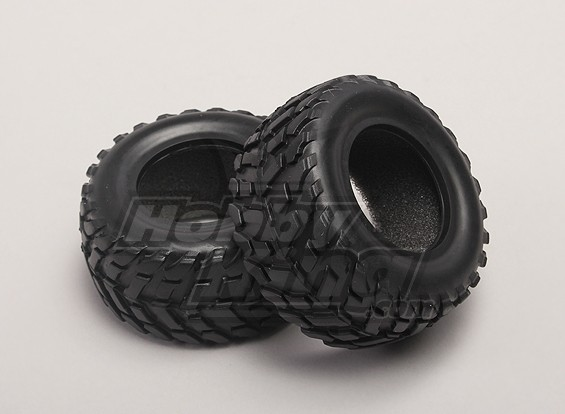 Tires w/Foam Inserts (2pcs/bag) - 1/18 4WD RTR Short Course Truck