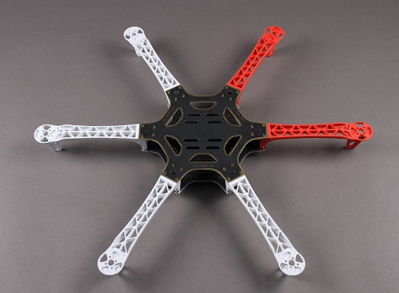 H550 V2 Glass Fiber Hexcopter Frame 550mm - Integrated PCB Version