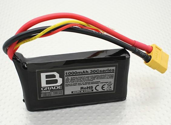 B-Grade 1000mAh 2S 30C Lipoly Battery