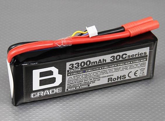 B-Grade 3300mAh 3S 30C Lipoly Battery