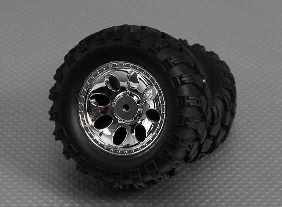 1/10 Crawler Meteor 90mm Wheel & Tyre 12mm Hex (2pc)
