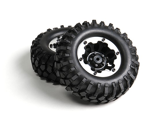 1/10 Crawler 96mm Wheel & Tyre 12mm Hex (2pc)