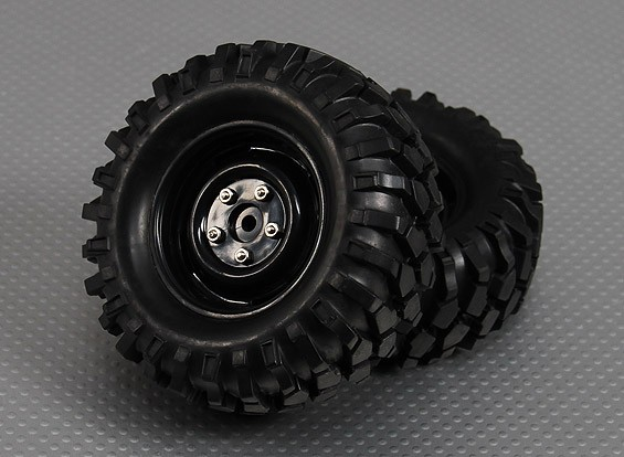 1/10 Crawler 96mm Wheel & Tyre 12mm Hex (2pc)