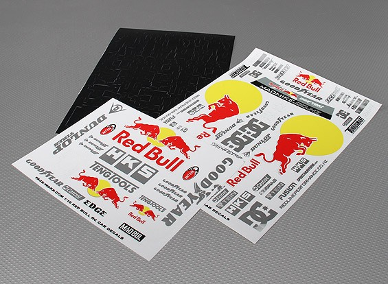 Self Adhesive Decal Sheet - Formula Drift  1/10 Scale (345mm x 240mm)