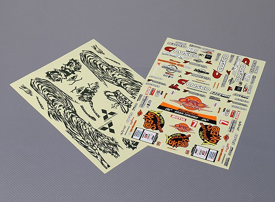 Self Adhesive Decal Sheet - YUKE'S TIGER EVOLUTION X 1/10 Scale
