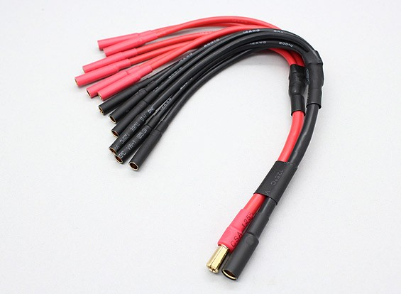 5.5mm Bullet to 6 X 4mm bullet Multistar ESC Power Breakout Cable