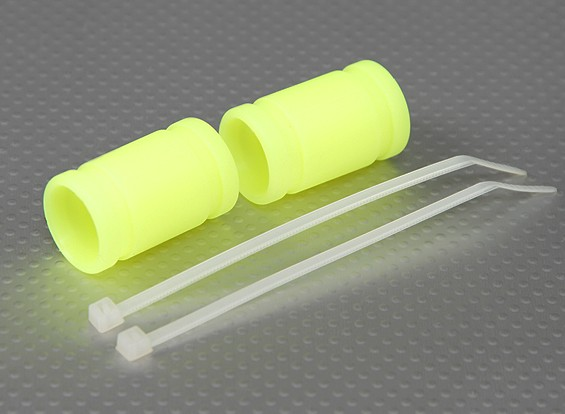 Silicone Exhaust Coupler 40x15mm (Yellow) (2Pcs/Bag)
