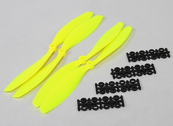 10x4.5 SF Props 2pc Standard Rotation/2 pc RH Rotation (Flouro Yellow)