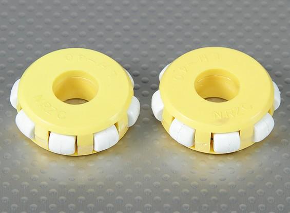 41x14mm Plastic Omni Wheel (2Pcs/Bag)