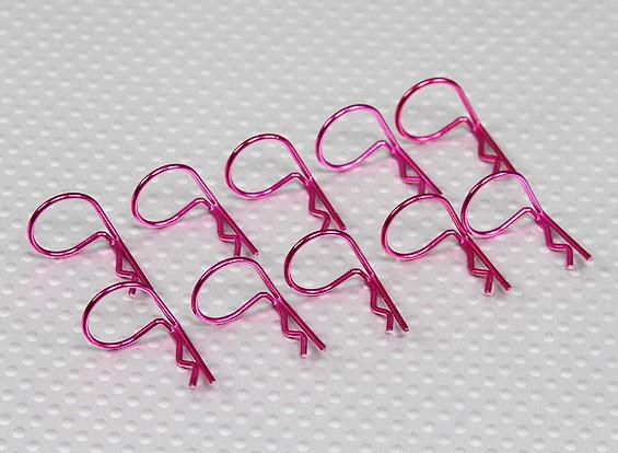 Large-ring 90 Deg Body Clips (Purple) (10Pcs)
