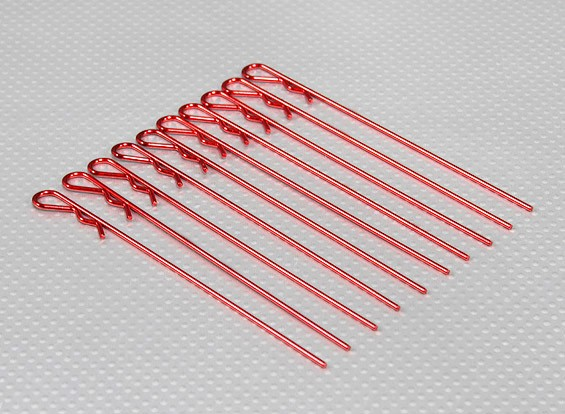 Long Heavy Duty Body Clips (Red) (10Pcs)