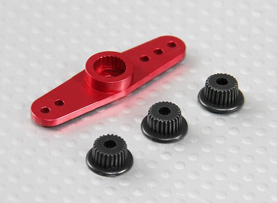 Universal Aluminum Two-way Servo Arm - JR, Futaba & HITEC (Red)