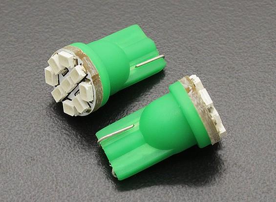 LED Corn Light 12V 1.35W (9 LED) - Green (2pcs)