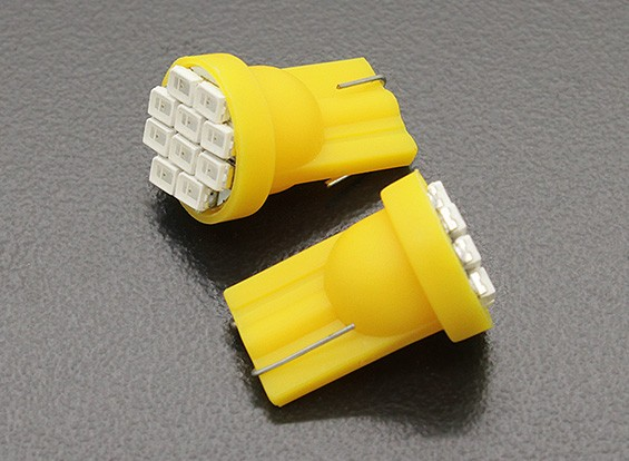 LED Corn Light 12V 1.5W (10 LED) - Yellow (2pcs)