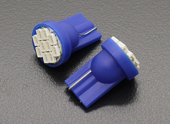 LED Corn Light 12V 1.5W (10 LED) - Blue (2pcs)