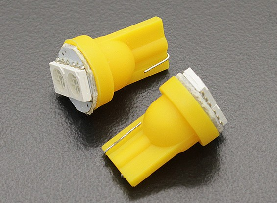LED Corn Light 12V 0.4W (2 LED) - Yellow (2pcs)