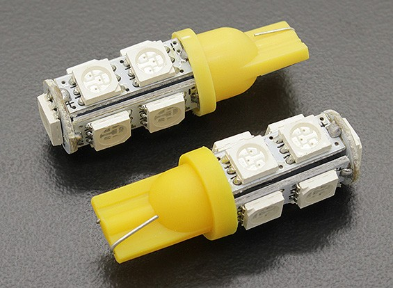 LED Corn Light 12V 1.8W (9 LED) - Yellow (2pcs)