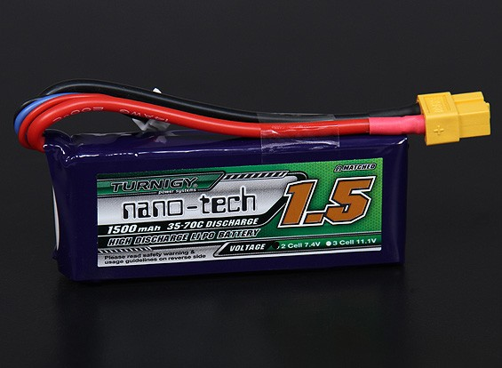 Turnigy nano-tech 1500mah 2S 35~70C Lipo Pack