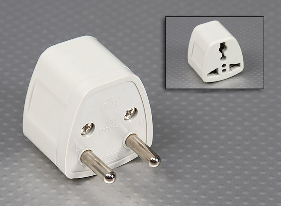 European Standards Europlug Multi-Standard Sockets Adaptor