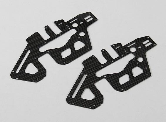 Trex/HK450 PRO 1.2mm Carbon Fiber Main Frame Side Set (2pcs/bag)