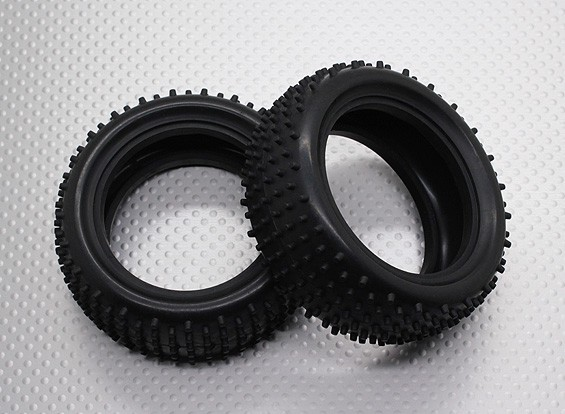 Front Tires w/Round Tread (2pcs/bag) - 1/10 Quanum Vandal 4WD Racing Buggy