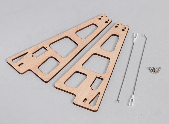 Durafly™ Auto-G Gyrocopter 821mm - Replacement Wood Supports w/Linkage Rods