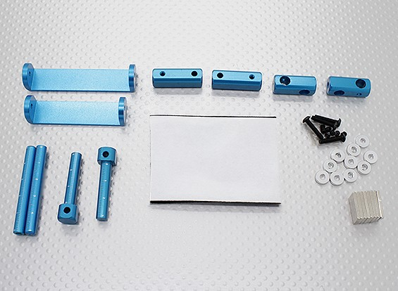 1/8 Car Magnetic Body Mounting Set (Blue)