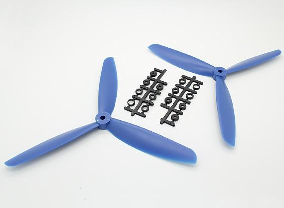 Hobbyking™ 3-Blade Propeller 9x4.5 Blue (CW/CCW) (2pcs)