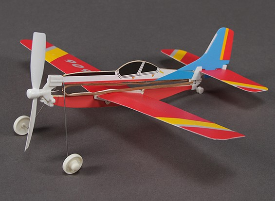 Rubber Band Powered Freeflight S.312 Tucano 286mm Span