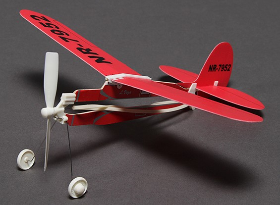Rubber Band Powered Freeflight L. Vega Airplane 291mm Span
