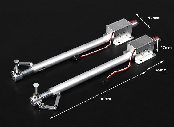 Turnigy Full Metal Servoless Retract with 190mm Oleo Legs (Pair)