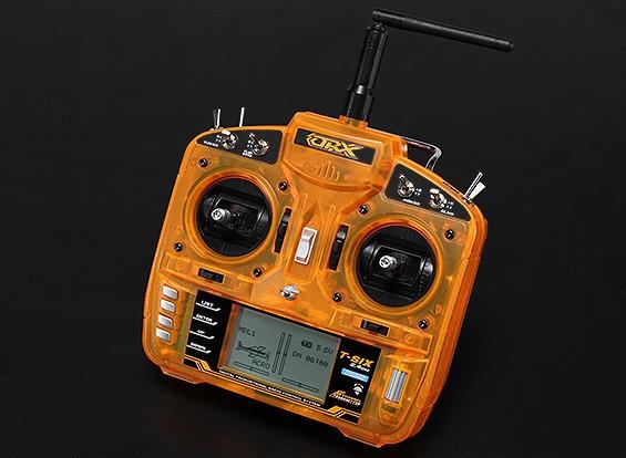 OrangeRxT-SIX 2.4GHz DSM2 Comp.6CH Programmable Transmitter w/10 Model Memory (Mode 2)