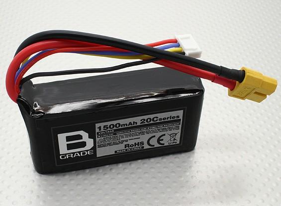B-Grade 1500mAh 3S 20C Lipoly Battery