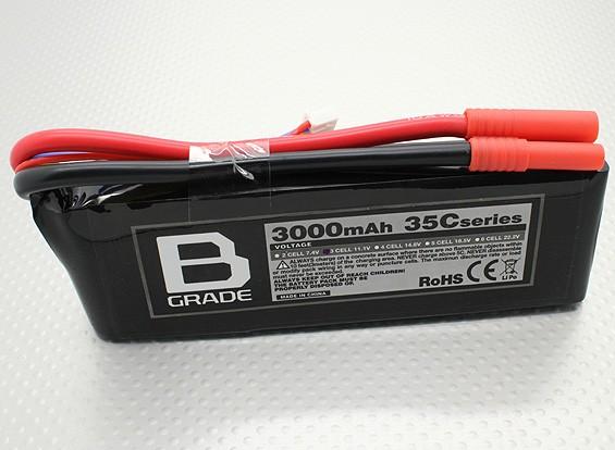 B-Grade 3000mAh 3S 35C Lipoly Battery