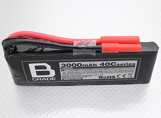 B-Grade 3000mAh 2S 40C Lipoly Battery
