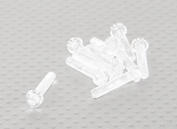 Transparent Polycarbonate Screws M4x20mm - 10pcs/bag