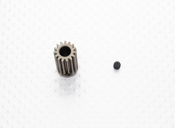 """""""Hard One"""" 0.7M Hardened Helicopter Pinion Gear 6mm Shaft - 15T"""